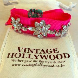 Vintage Hollywood Crystal Pink Bracelet
